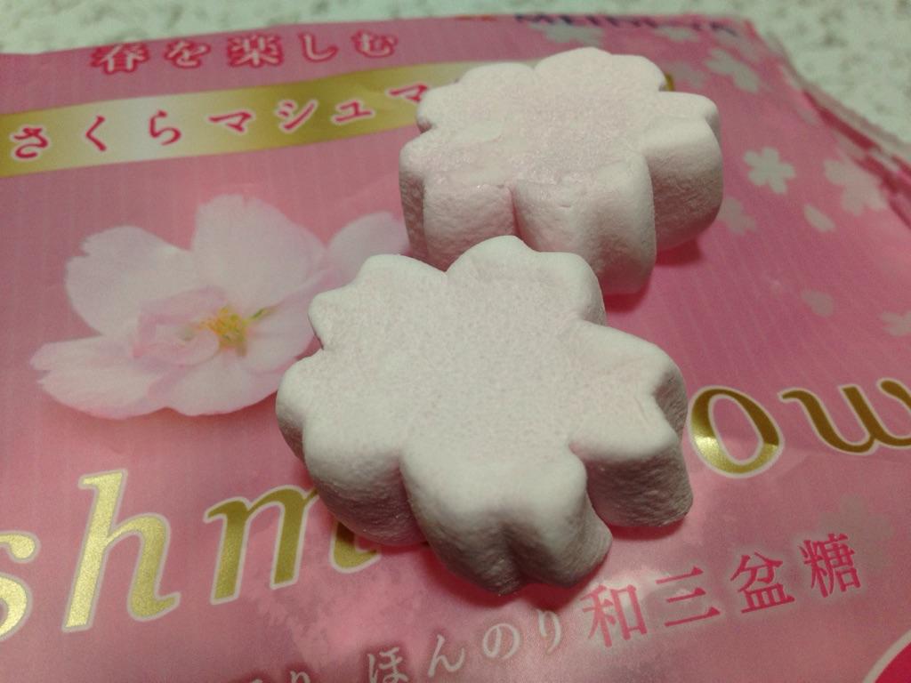 さくらの形のマシュマロで、和菓子風のお菓子が簡単に手作りできる!