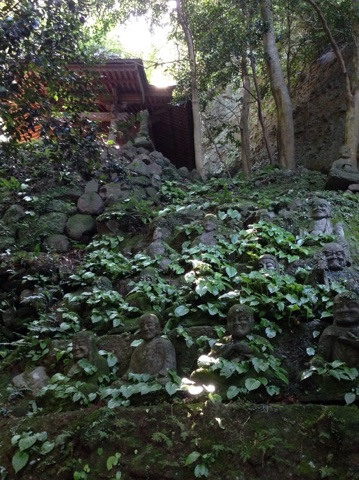 文殊仙寺の階段