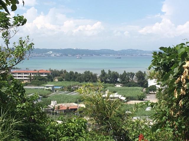 佐敷グスクから見下ろした景色