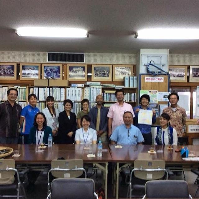 沖縄市で開催した中学校キャリア教育の講師陣