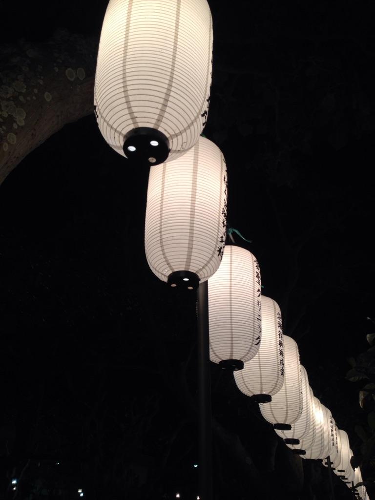 神社の提灯