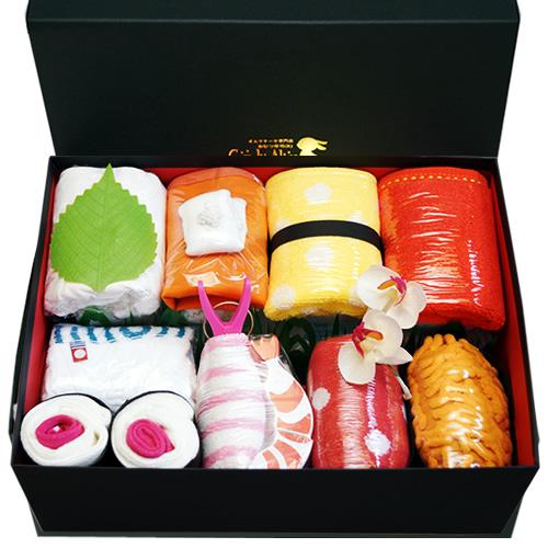 意外な贈り物を狙うなら、おむつ寿司!?