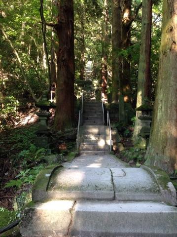 熊野磨崖仏の長い階段