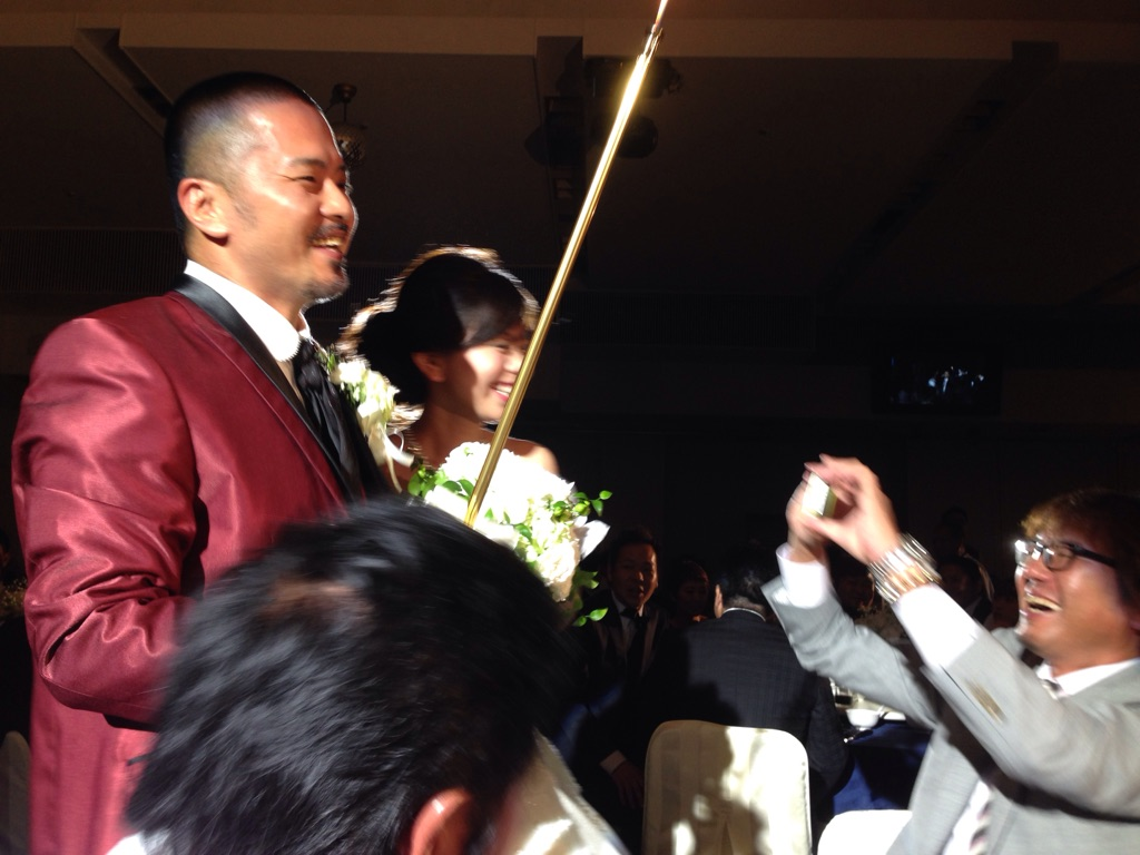 結婚式に感動しました。
