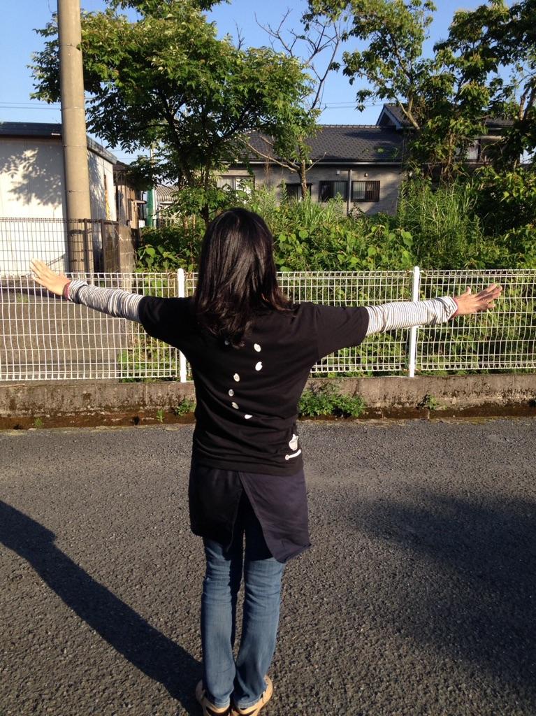 オリジナルお米Tシャツ、着てみた画像いただきました!