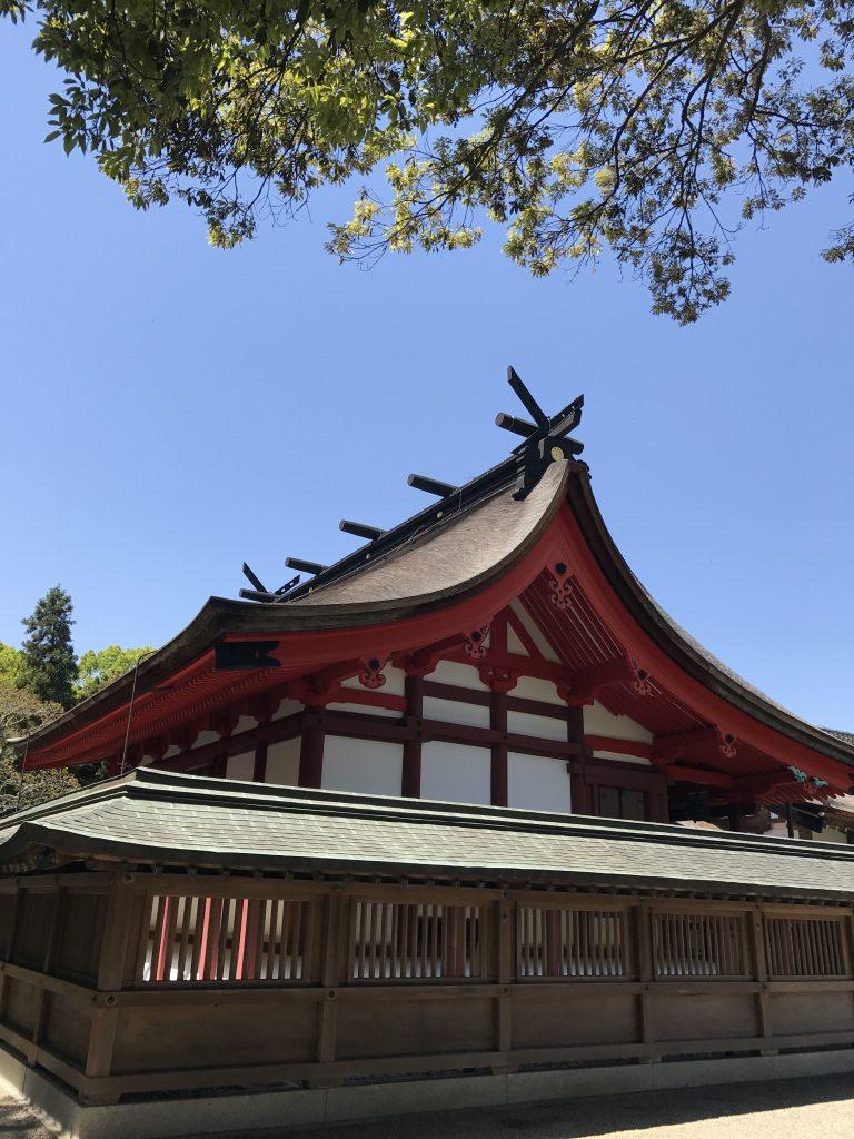福岡の宗像大社のお堂