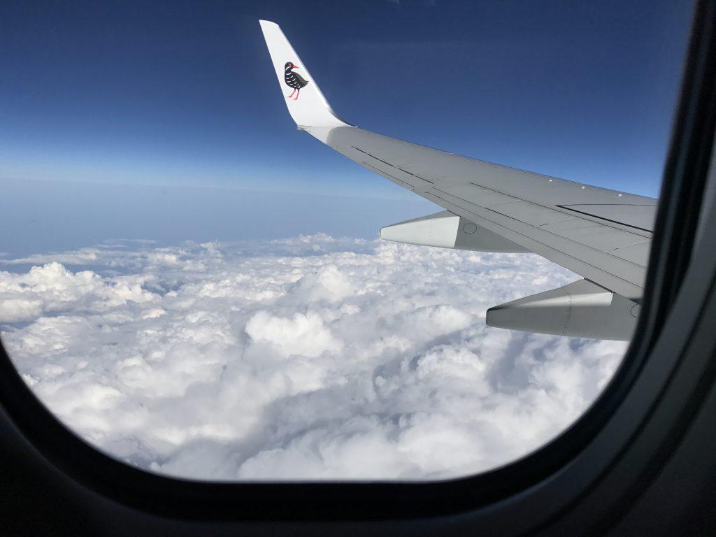 飛行機からの景色も旅の楽しみ方のポイント